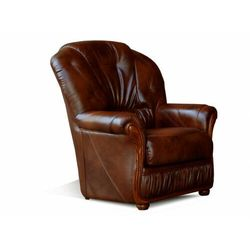 Fotel 100% skóry bawolej DAPHNE - Kolor: czekoladowy