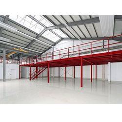 Pomost magazynowy, przęsło podst., obciążenie powierzchniowe 500 kg/m², raster w