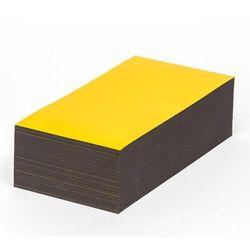 Magnetyczna tablica magazynowa, żółte, wys. x szer. 80x200 mm, opak. 100 szt. Za