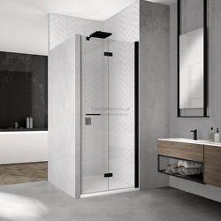 Sanswiss Solino F drzwi do wnęki składane 70 cm prawe czarne SOLF1D07000607