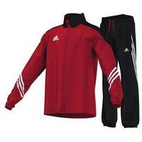 Piłka nożna, Dres Adidas SERENO 11PES SU Y V38043 czerwono-czarny