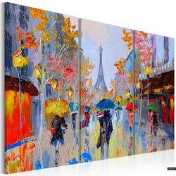 SELSEY Obraz malowany - Deszczowy Paryż