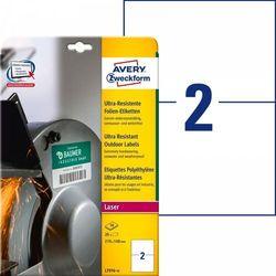 Etykiety polietylenowe ultra resistant Avery Zweckform A4 10ark./op. 210x148mm białe