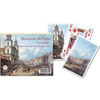 Gry dla dzieci, Karty do gry Piatnik 2 talie, Canaletto, Kościół Świętego Krzyża