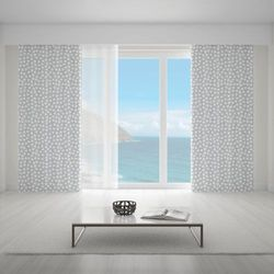 Zasłona okienna na wymiar - WHITE TRIANGLES & GREY BACKGROUND
