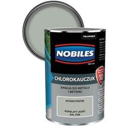 Emalia chlorokauczukowa Nobiles do metalu i betonu popielaty jasny 0,9 l