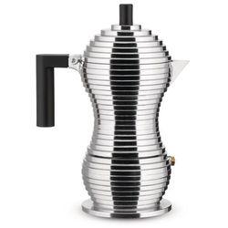 Kawiarka Alessi Pulcina na 1 filiżankę z czarnym uchwytem