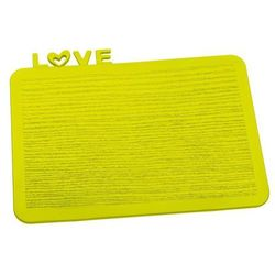 Deska śniadaniowa Happy Boards Love musztardowa