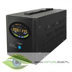 Inwerter / przetwornica / prostownik | Pure Sine Wave | 700W | 1000VA | LCD | Czarne