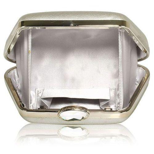 Torebki, Wytworna srebrna torebka wizytowa na wesele na ślub - srebrny
