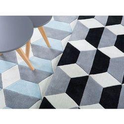 Dywan czarno-szaro-biały - 80x150 cm - poliester - ANTALYA