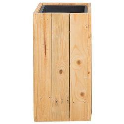 Doniczka drewniana prostokątna 24 x 24 x 50 cm SYKIA