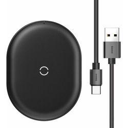 Baseus Cobble bezprzewodowa indukcyjna ładowarka Qi 15W + kabel USB - USB Typ C 1m czarny (WXYS-01) - Czarny Ładowarki -20% (-20%)