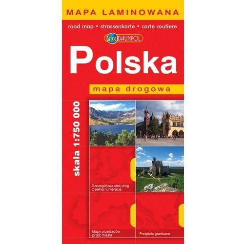 Mapy i atlasy turystyczne, Polska. Mapa drogowa 1:750 000 (opr. broszurowa)