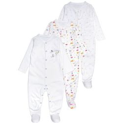 mothercare UNISEX AROUND THE WORLD SLEEPSUIT BABY 3 PACK Piżama lights multicolor