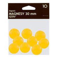 Pozostałe artykuły szkolne, Magnesy 30 mm żółte 10 sztuk