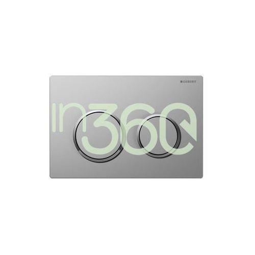 omega20 przycisk uruchamiający, przedni/górny, chrom mat-chrom bł.-chrom mat 115.085.kn.1 marki Geberit