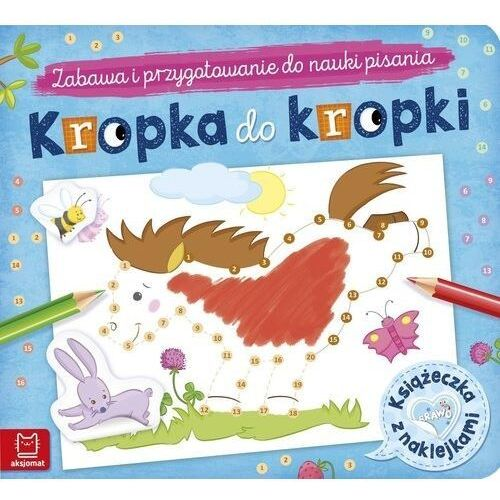 Książki dla dzieci, Kropka do kropki. Książeczka z naklejkami (opr. broszurowa)