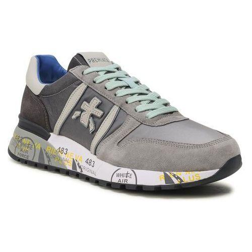 Męskie obuwie sportowe, Sneakersy PREMIATA - Lander 4586B Light Grey/White/Grey