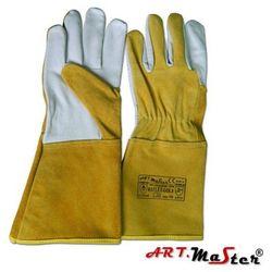 Rękawice ochronne spawalnicze z miękkiej skóry koziej Reflex -Gold kat II 10