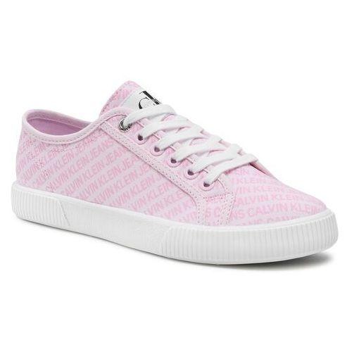 Damskie obuwie sportowe, Tenisówki CALVIN KLEIN JEANS - Vulcanized Sneaker Laceup Aop Co YW0YW00155 Pearly Pink TN9
