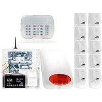 Zestawy alarmowe, ZA12550 Zestaw alarmowy DSC 10x Czujnik ruchu Manipulator LED Powiadomienie GSM