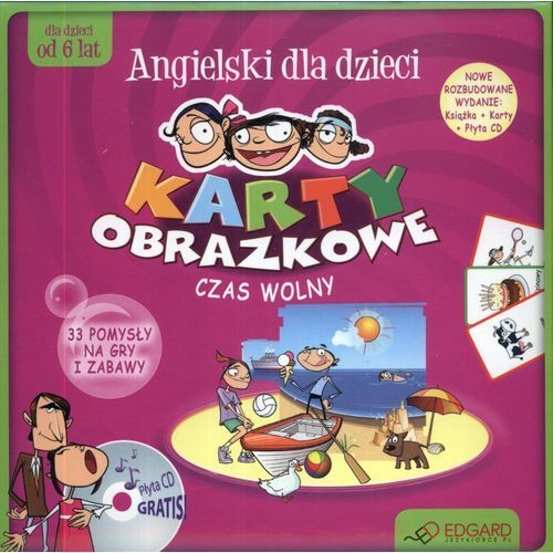 Książki dla dzieci, Ang. Karty obrazkowe Czas wolny w.2012 EDGARD (opr. kartonowa)