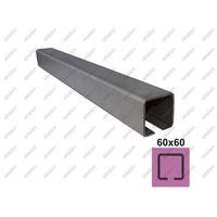 Przęsła i elementy ogrodzenia, Profil do bramy przesuwnej INOX, 58x58x3mm, L6m