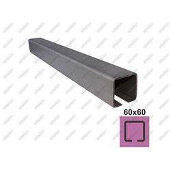 Profil do bramy przesuwnej INOX, 58x58x3mm, L6m