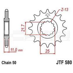 Zębatka przednia JT F580-17, 17Z, rozmiar 530 2200069 Yamaha YZF 750, FZR 750