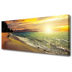 Obraz na Płótnie Słońce Plaża Morze Krajobraz