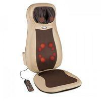 Masażery i pasy odchudzające, KLARFIT Niuwe mata nakładka do masażu shiatsu 3 strefy masażu brązowa