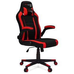 Fotel gamingowy ATILLA+ czerwony Materiał PRO-GAMER dla graczy