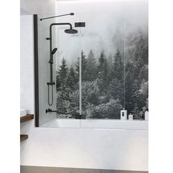 Radaway parawan nawannowy Essenza New Black PND II 100 cm lewy, szkło przejrzyste, wys. 150 cm. 10002100-54-01L