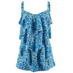 Sukienka kąpielowa bonprix niebieski z nadrukiem