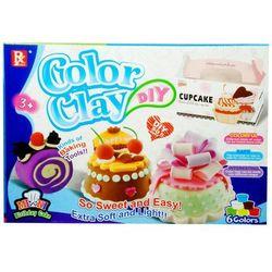 Masa plastyczna SWEDE Color Clay Birthday Cake (6 kolorów)