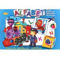 Książki dla dzieci, ALFABET Z NAKLEJKAMI (opr. miękka)