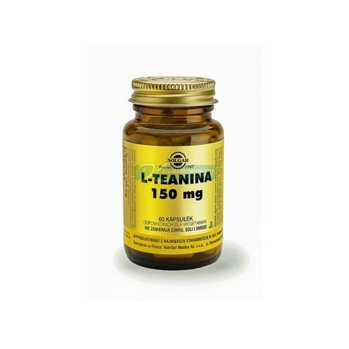 Witaminy i minerały, SOLGAR L-Teanina 60 Kapsułek