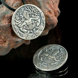 Cernunnos z Gunderstrup Dania srebrna celtycka zawieszka SBR443