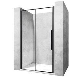 Drzwi prysznicowe szerokość 90 cm czarne profile Solar Rea UZYSKAJ 5 % RABATU NA DRZWI