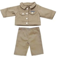 Ubranka dla lalki 40 cm - Jesienna kurteczka ze spodenkami