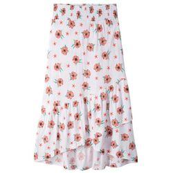 Spódnica dziewczęca z dżerseju z falbanami bonprix biały