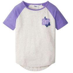 T-shirt z rękawami reglanowymi bonprix naturalny melanż - jasny lila