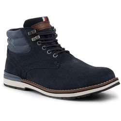 Trzewiki TOMMY HILFIGER - Outdoor Suede Hilfiger Boot FM0FM02429 Midnight 403