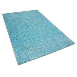 Dywan niebiesko-beżowy - 160x230 cm - bawełna - juta - SILOPI