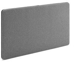 Ścienny panel dźwiękochłonny Zip, 1200x650 mm, szary, czarny suwak