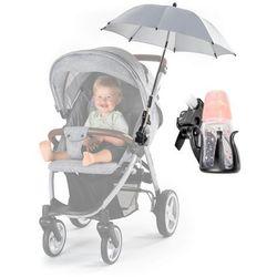 Parasolka UV50+ do wózka + uchwyt na butelkę REER - szary