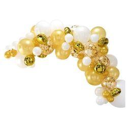 Zestaw balonów do girlandy balonowej złoto-biały - 1 komplet