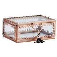 Pozostałe wyposażenie domu, Madam Stoltz - Szklane pudełko na biżuterię
