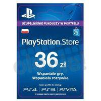 Klucze i karty przedpłacone, Sony PlayStation Network 36 zł [kod aktywacyjny]